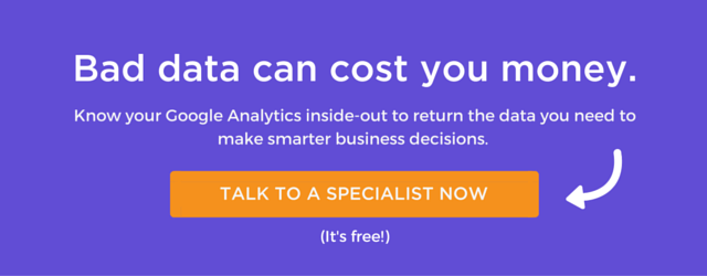 Talk to a Google Analytics specialist