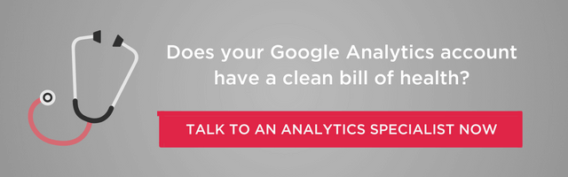 GOOGLE ANALYTICS HEALTH CHECK