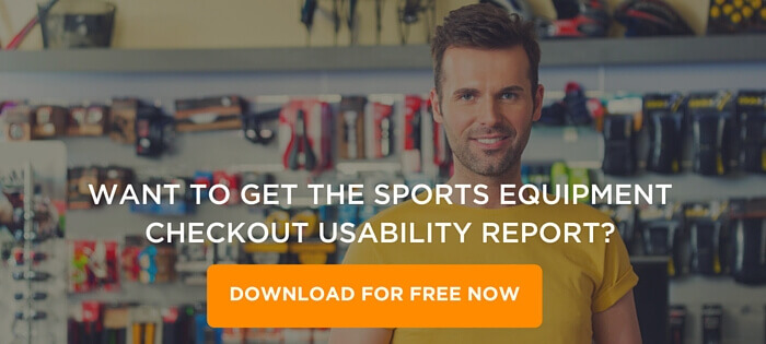 Sports Equipment Checkout Usability Report CTA